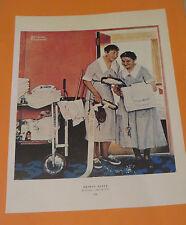 Norman Rockwell CHECK UP & BRIDAL SUITE 1957 Original Book Pressing Print