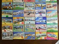 Lot of 30 Cracker Barrel Postcards - Large Letter Greetings From
