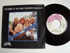 "ABBA : The name of the game / I wonder (departure) 7"" 45T MELBA 45. X. 140.314"