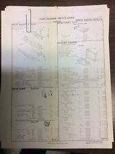 1970 1972 1972 chevy Nova crash sheets with part numbers