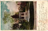 Vintage Postcard - Posted 1909 The Burns Statue Albany New York NY #4240