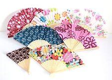 025, 10 Stk Fächer Holz Handfächer Sommerfächer Deko Blumen rosa Motive