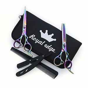 Professional Hairdressing Thinning Barber Scissors Set 6.5 Inch Royal Edge
