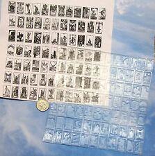 UM set 78 small Tarot Card rubber stamps complete deck