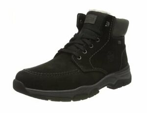 Rieker 31240-00 size UK10.5 / EU45 extra wide LEATHER ankle zip & lace up boots