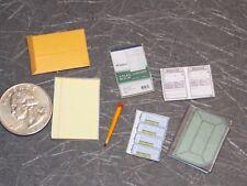 Dollhouse Miniature 7pc Office Desk Supplies Set 1:12 Scale H27 Dollys Gallery