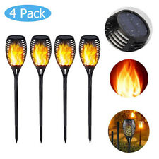 33 LED Flame Solar Control Torch Light Warm Flickering Stake Lamp Waterproof 4pc