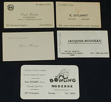 1940-1960 - SPORTS PERSONALITY MONTREAL, CANADA - BUSINESS CARDS (5) - ORIGINAL