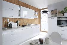 Küche, Schränke, Küchenzeile erweiterbar Weiss Glanz MDF Fronten Neu&Schnell