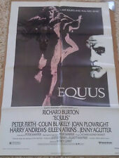 EQUUS MOVIE POSTER 1 Sheet ORIGINAL FOLDED 27x41 RICHARD BURTON