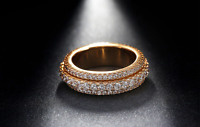 3ct Round Diamond Wedding Ring Band 14k Rose Gold Finish Full Eternity Stackable
