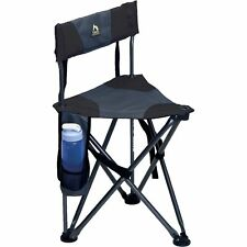 GCI Outdoor Quick-E-Seat Folding Tripod Field Chair with Backrest Black