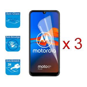For Motorola Moto E6 Plus Screen- Screen Protector Cover Guard LCD Film Foil x 3