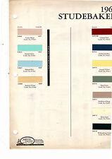 1960 STUDEBAKER LARK HAWK DELUXE REGAL 60 PAINT CHIP ARCO