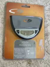 CHAMPION C9 POUCH PEDOMETER W/ TIME, TOTAL STEPS, DISTANCE, CALORIES, POUCH NEW!