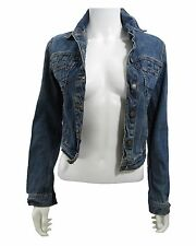 Patrizia Pepe blue denim button front fitted jacket size IT40