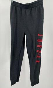 Nike Air Jordan Boy's Jogger Pants Size XL 13-15 Gray Fleece Sweatpants Used