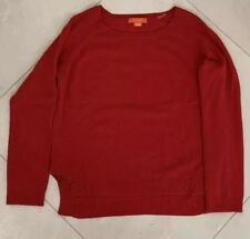 Women's Christopher Fischer Long Sleeve 100% Cashmere Red Pullover Sweater Sz M