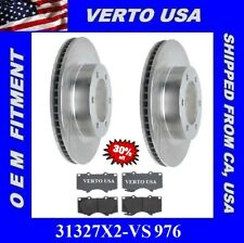 Set Of 2 Front Rotors & Pads 6 Lugs for Toyota Tacoma, FJ Cruiser , 4Runner