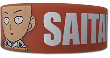 **License** One Punch Man PVC Wristband SD Regular Saitama & Name #54439