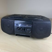 Vtg Sony Cfd-V10 Mega Bass Cd Cassette Am/Fm Radio Boombox Portable Stereo Works