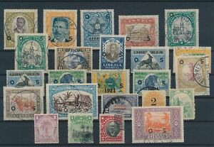 LN24863 Liberia mixed thematics nice lot of good stamps used