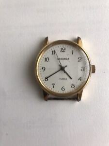 Vintage Sekonda 17 Jewels Watch Face Spares Or Repair