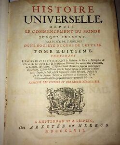 ROME.HISTOIRE de l'ANCIEN ÉTAT D'ITALIE ET L'HISTOIRE ROMAINE 1747-1750 4VOLUMES