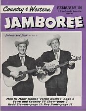Country & Western Jamboree magazine February 1956 Johnnie and Jack cover Ferlin