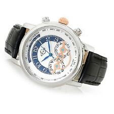 GV2 by Gevril 44mm Montreux Limited Edition Swiss Quartz Chronograph Strap Watch