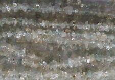 025 Aquamarine gemstone fine chip bead necklace natural gem 90cm/36inch