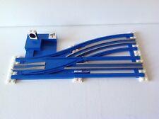 Lego Eisenbahn,12V,Weiche,Handweiche,links,70er,blau