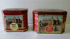 2 1950'S VINTAGE RILEYS TOFFEE TIN /CAN/BOX HALIFAX ENGLAND CANADIAN CITY SCENES