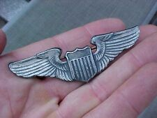 ORIGINAL SCARCE WWII FULL SIZE USAAF PILOT WINGS - STERLING - SE EBY PHILA