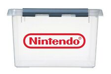 8x sml NINTENDO Logo Vinyl Stickers Decals for NES games storage box & container