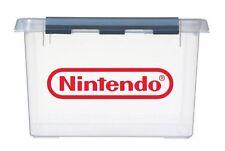 4x sml NINTENDO Logo Vinyl Stickers Decals for NES games storage box & container