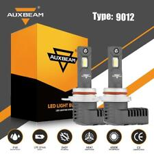 AUXBEAM 9012 LED Headlight Bulbs 6500K HIR2 50W 5000LM for GMC Sierra 1500 14-15