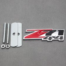 3D Chrome Metal Red Z71 4x4 Front Grille Emblem Badge for Silverado Sierra Tahoe