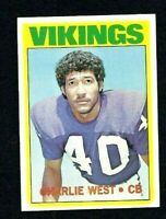 NMT 1972 Topps Football #53 Charlie West RC.