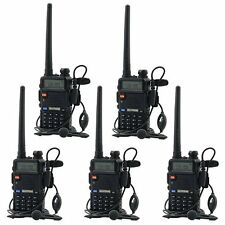 5 Pcs BaoFeng UV-5R 136-174/400-520 MHz Dual-Band Two Way FM Radio Walkie Talkie