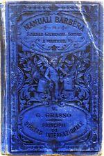MANUALI BARBERA V VOLUME PRINCIPII DI DIRITTO INTERNAZIONALE G.GRASSO 1890