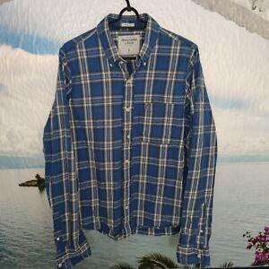 Herren Jeans Hemd Abercrombie&Fitch   Gr L MUSCLE   Mehrfarbig   LOGO Freizeit