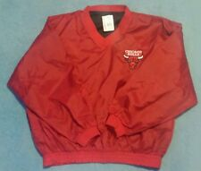 Vintage Mens Fans Gear Chicago Bulls Jacket Pullover Reversible Sz XL