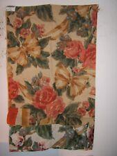 """Carleton V """"Bonnie"""" 100% linen floral vintage remnant color multi"""