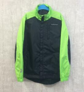 Boys Muddy Fox Cycling Jacket Age 11-12 Black Windproof Waterproof Bike Top Coat