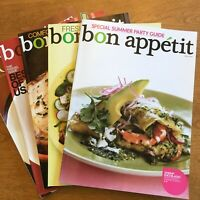 Bon Appetit Cooking Magazine Back Issues Oct 2007 March April May June 2009
