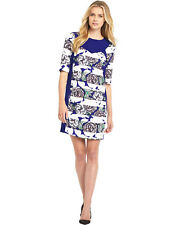 BNWT FRENCH CONNECTION BONITA BLUE FLORAL DRESS SIZE 12 RRP £139