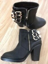 BUY1GET1FREE Women Girls Ankle Zip Buckle Heeled Boots Feet Look Gorgeous Size 4