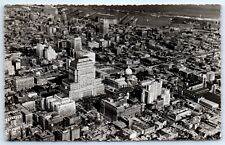 Postcard Canada Montreal Business Section Aerial B&W View I1