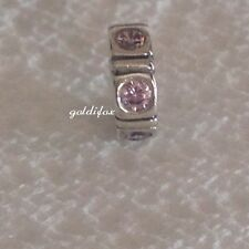 NEW Authentic Pandora TRINITY PINK CZ SPACER Charm 925 Silver#790368PCZ RETIRED